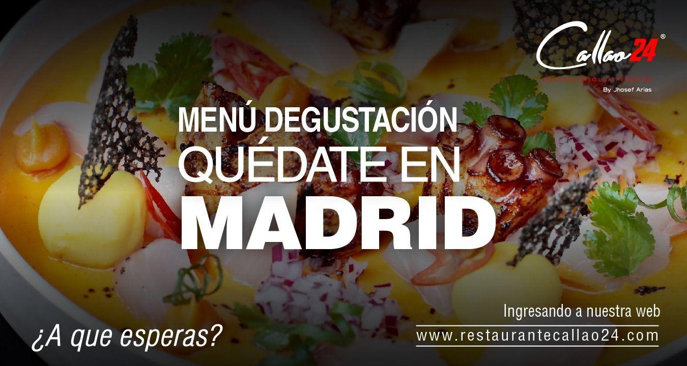 Menú Quédate en Madrid