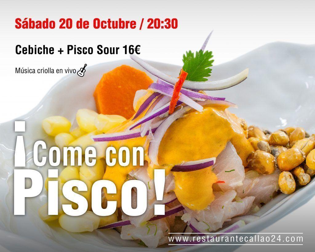 Come con Pisco Evento en Callao24 Octubre 2018
